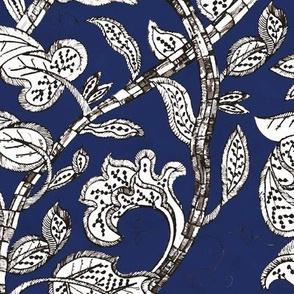 jacobean stalk blue