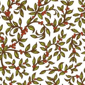 Floral Red Berries