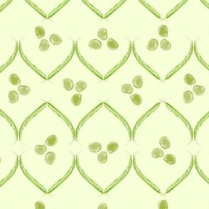 green bean geometric - light green
