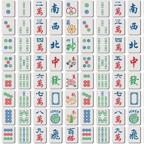 Mahjong Tiles on White (1/2 scale)
