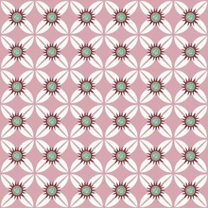 Mauve Geometric Flower
