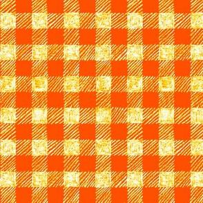"5/8"" batik gingham - solar orange"