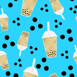 boba tea and dots - turquoise