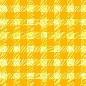"5/8"" batik gingham - yellow and white"