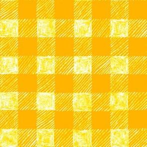 """1"""" batik gingham - yellow"""