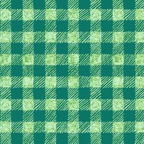 """5/8"""" batik gingham - serene green"""