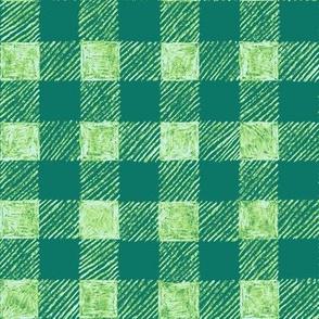 """1"""" batik gingham - serene green"""
