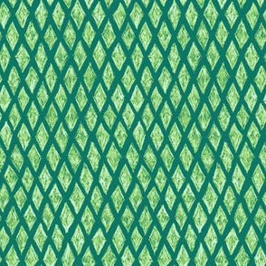 batik diamonds in green