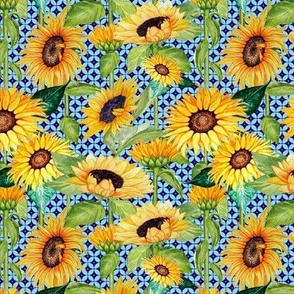 sunflowers and Mid Century Modern