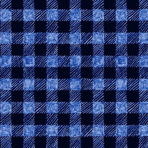 "5/8"" batik gingham - royal blue"