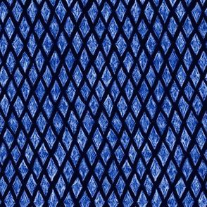 batik diamonds - royal blue on dark blue