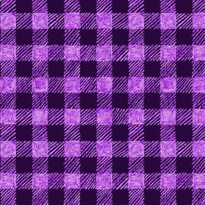 """5/8"""" batik gingham - purple and lavender"""
