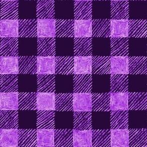 """1"""" batik gingham - purple and lavender"""