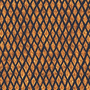 batik diamonds - brown, copper and gold on navy
