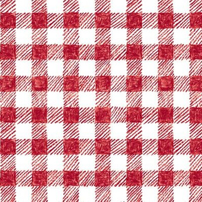 """5/8"""" crayon gingham in  cranberry red"""