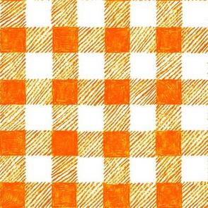 "1"" crayon gingham in  solar orange"