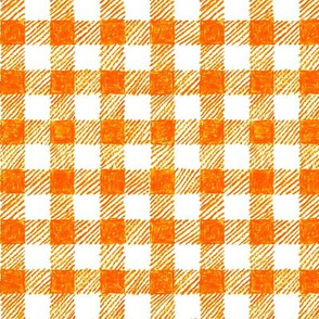 "5/8"" crayon gingham in  solar orange"