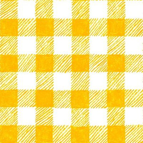 """1"""" crayon gingham in yellow"""