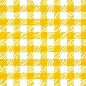 """5/8"""" crayon gingham in yellow"""
