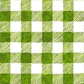 """1"""" crayon gingham in  leaf green"""