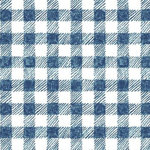 """5/8"""" crayon gingham in  navy and blue"""