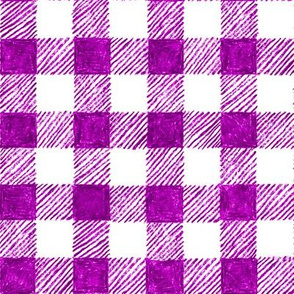 """1"""" crayon gingham in  bright plum"""