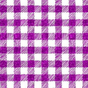 """5/8"""" crayon gingham in  bright plum"""
