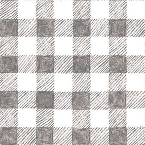 """1"""" crayon gingham in  grey"""