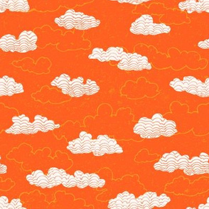 Clouds on a Tangerine Sky