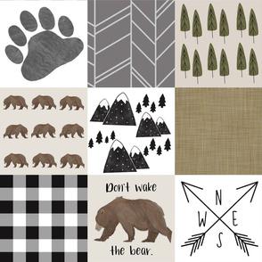 don't wake the bear blanket copy
