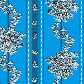"Phantom ""Wishing gown"" fabric - plain blue background"