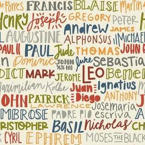 Catholic Male Saint Names