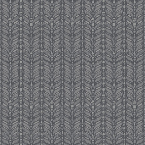 Knit Print Dark Grey on Light Grey