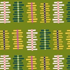 Plaid Ladders Green