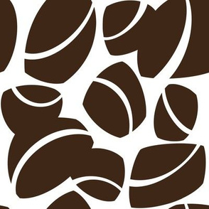 Midcentury Rock in Chocolate on White