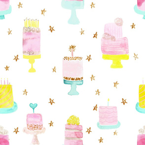 party cakes on sparse stars