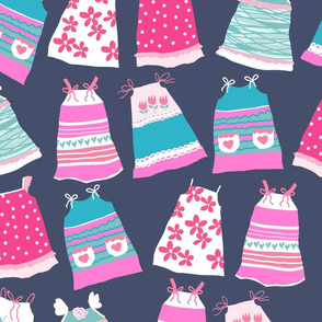 Pillowcase Dresses for Charity purple grey