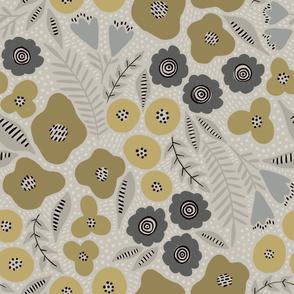 Maureen floral (gold)