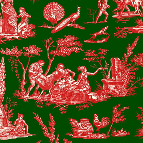 Marseilles Toile ~ Christmas Gretna Green with Richelieu on Cosmic Latte