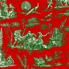 Marseilles Toile ~ Christmas Richelieu with Gretna Green on Cosmic Latte