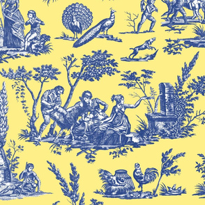 Marseilles Toile ~  Willow Ware Black and White on Circe