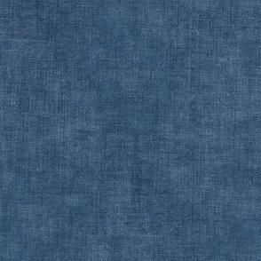 Denim Blue Linen Canvas Textured Solid Coordinate