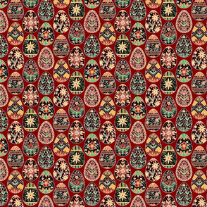 Pysanky Floral Red Small
