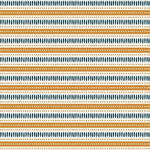 Mustard and teal stripes