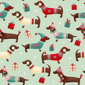 Christmas Daschund dogs