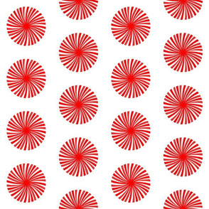 peppermint twist circles on white