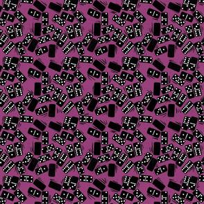 Dominos block print pink