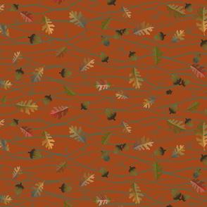 Wavy Oak Leaves and Acorns - hrz