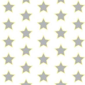 Stars - Gray with Yellow