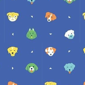 Dogs & dots  - color